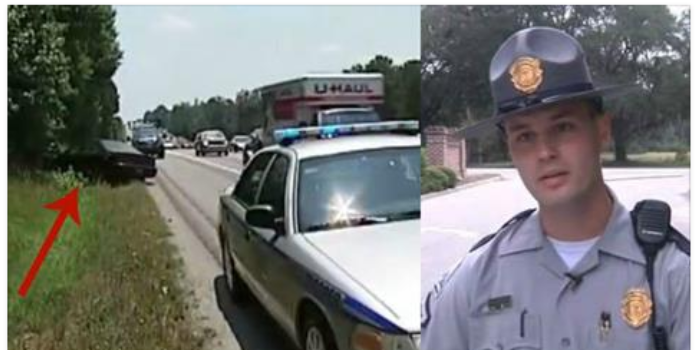 Officer Becomes Hero After He Spots A Mom And Son On Side Of Road, Reacts Quickly