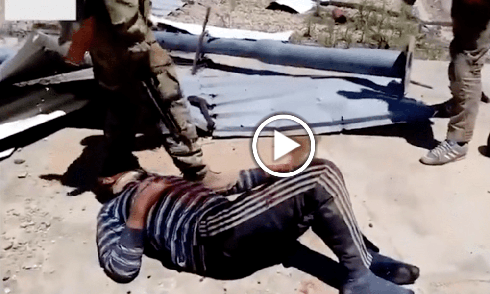Graphic Footage Of Russians Torturing ISIS Militant With Sledge Hammer [WATCH]