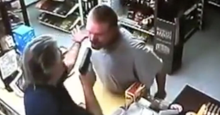 Would-Be Robber Pulls Gun On Store Clerk, Has No Clue He's A Combat Trained Veteran (video)