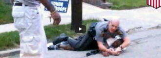 CIVILIAN HERO RISKS LIFE TO SAVE STRUGGLING COP CAUGHT IN A FIGHT [VIDEO]