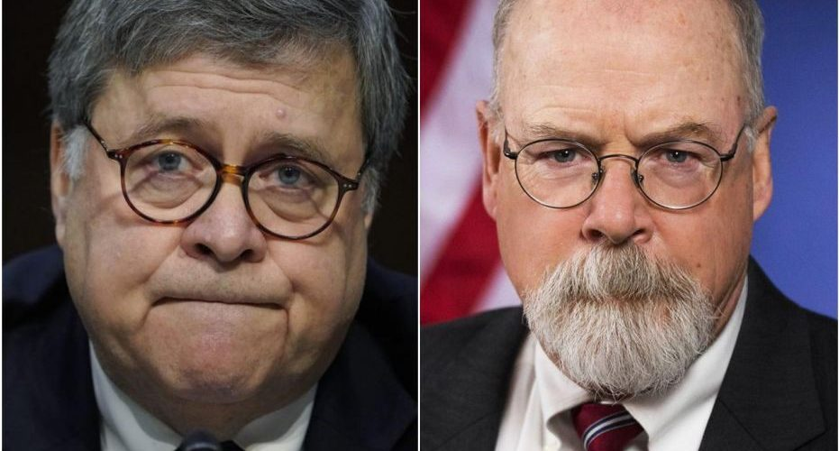 ALERT JOHN DURHAM DROPPING HIS INVESTIGATIONS INTO SPYGATE